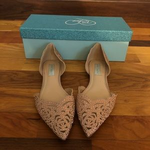 Betsy Johnson Wedding Flat - Blush